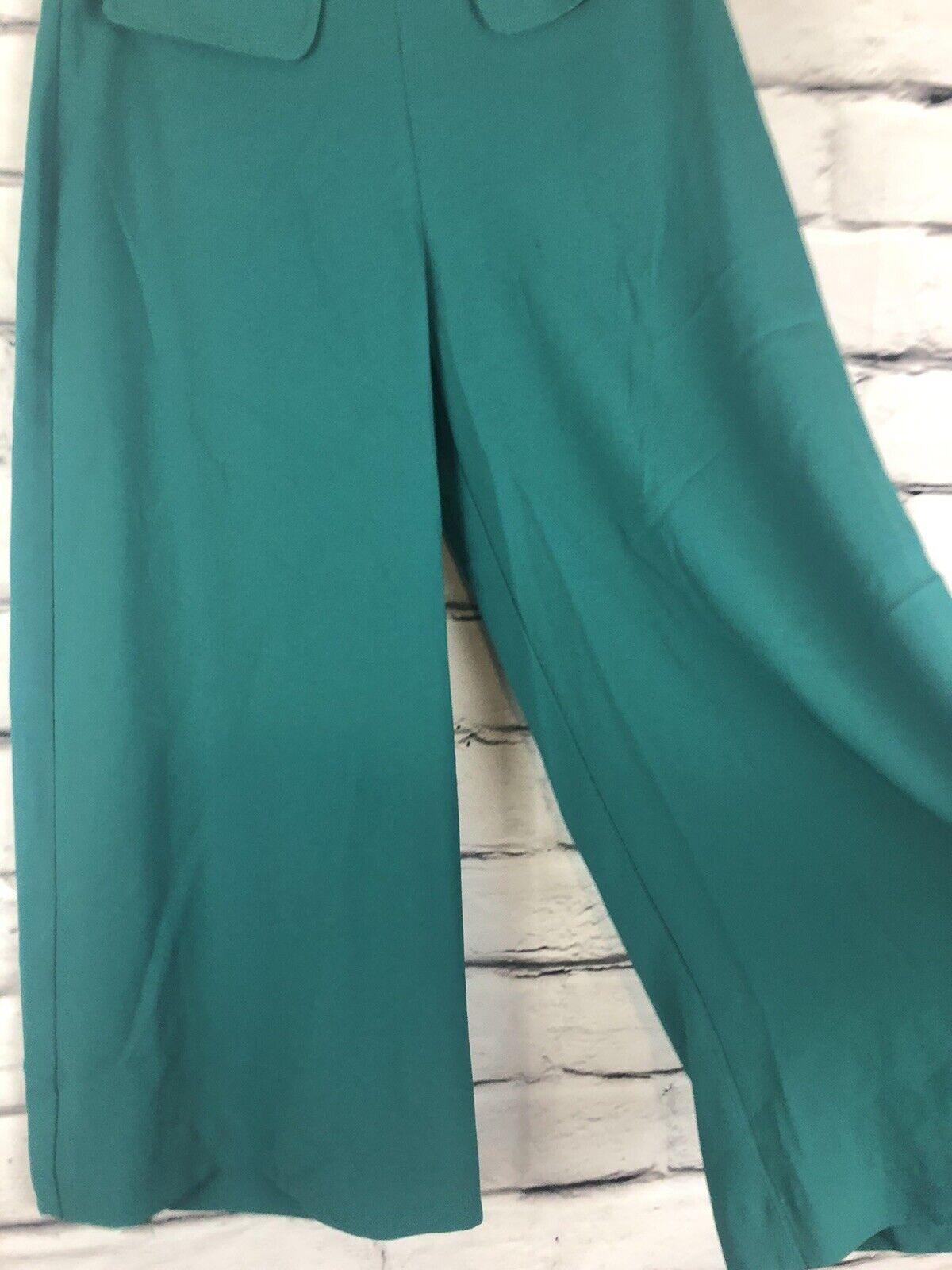 Trina Turk Womens Teal Size 12 Gaucho Pants  - image 3