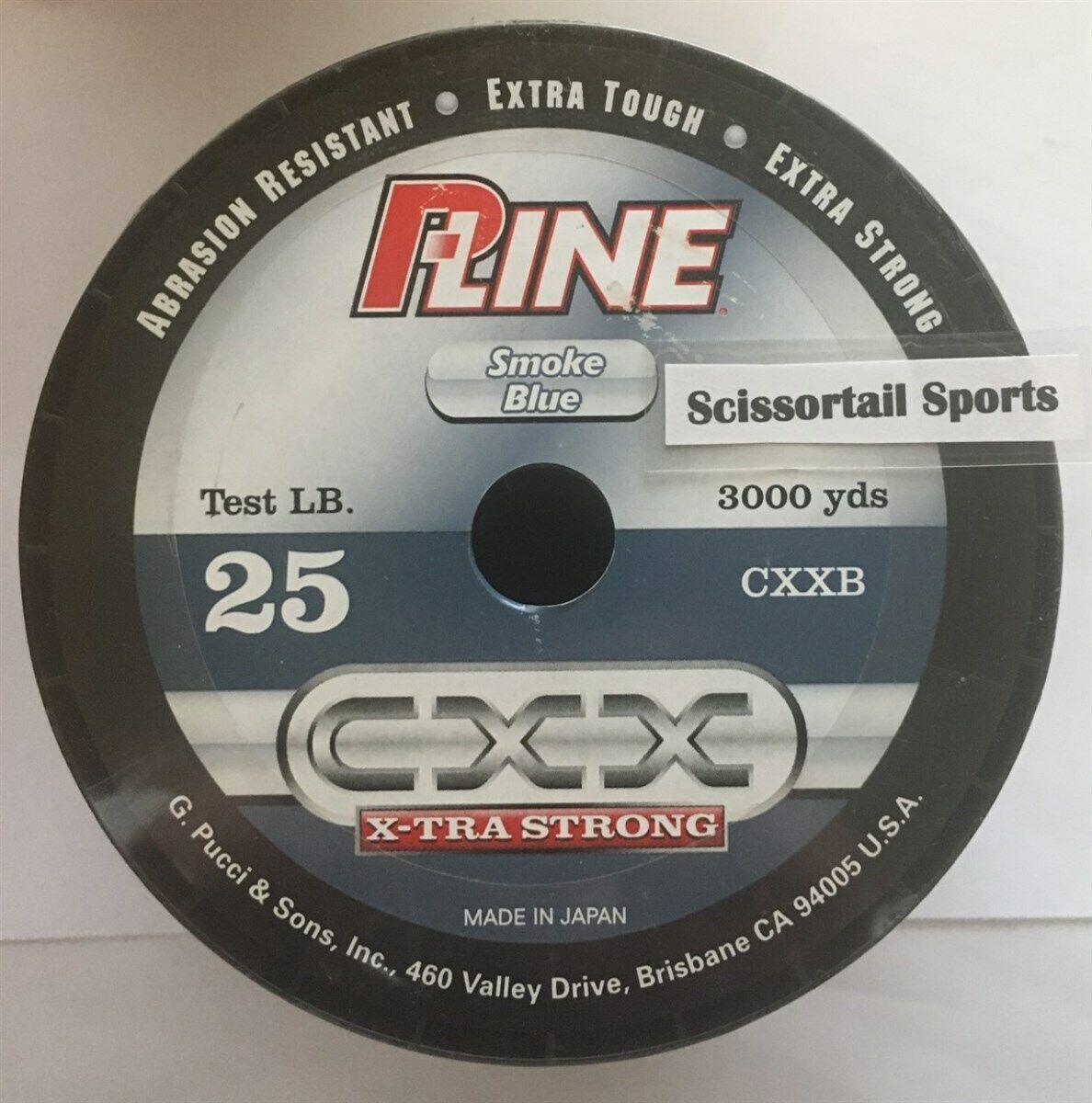 P-Line CXX X-TRA Strong 25 lb 3000 yd Fishing Line Smoke bluee, NEW