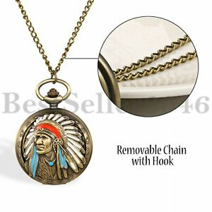 Ancient-Tribal-People-Indian-Quartz-Pocket-Watch-for-Women-Men-Pendant-Neckalce