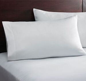 24 new white twin size flat 66x104 t180 percale cvc crisp hotel spa sheets