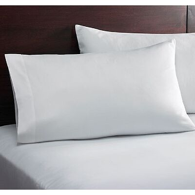 1 WHITE KING SIZE PILLOWCASE 20X40 T200 PERCALE CVC CRISP PILLOWCASES OFFER