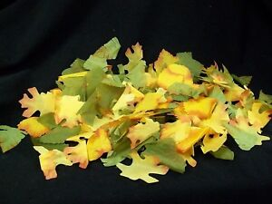 250 Fake Autumn Leaves Fall Tree Leaf Harvest Decor Thanksgiving Crafts Projects
