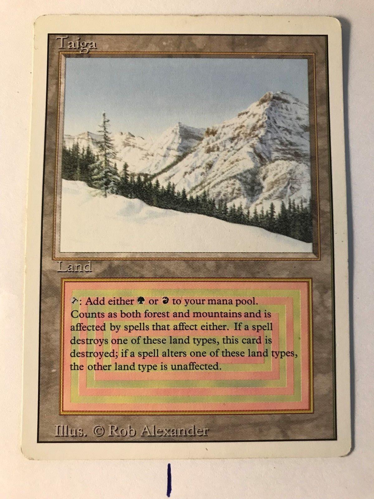 MTG Magic Magic Magic 1X Taiga -- Dual Land from Revised -- (3 Available) KM 6d9ab9