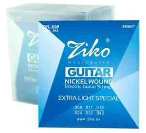 high quality ziko nickel wound electric guitar strings 2 x gauge available 09 10 ebay. Black Bedroom Furniture Sets. Home Design Ideas
