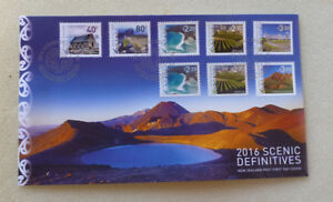 2016-NEW-ZEALAND-SCENIC-DEFINITIVES-SET-OF-8-STAMPS-FDC-FIRST-DAY-COVER
