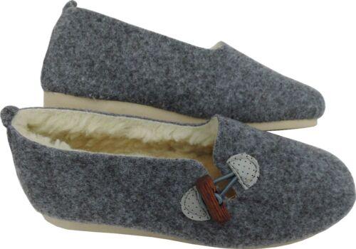 laine vierge * 14-7-4-54//1 chaussons chauds-Mules taille 40 * feutrine Légère
