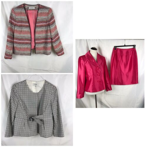 Le Fuchsia 3 Suit 12p Kasper Womens Skirt Lotto Jackets W fAnR8CxR