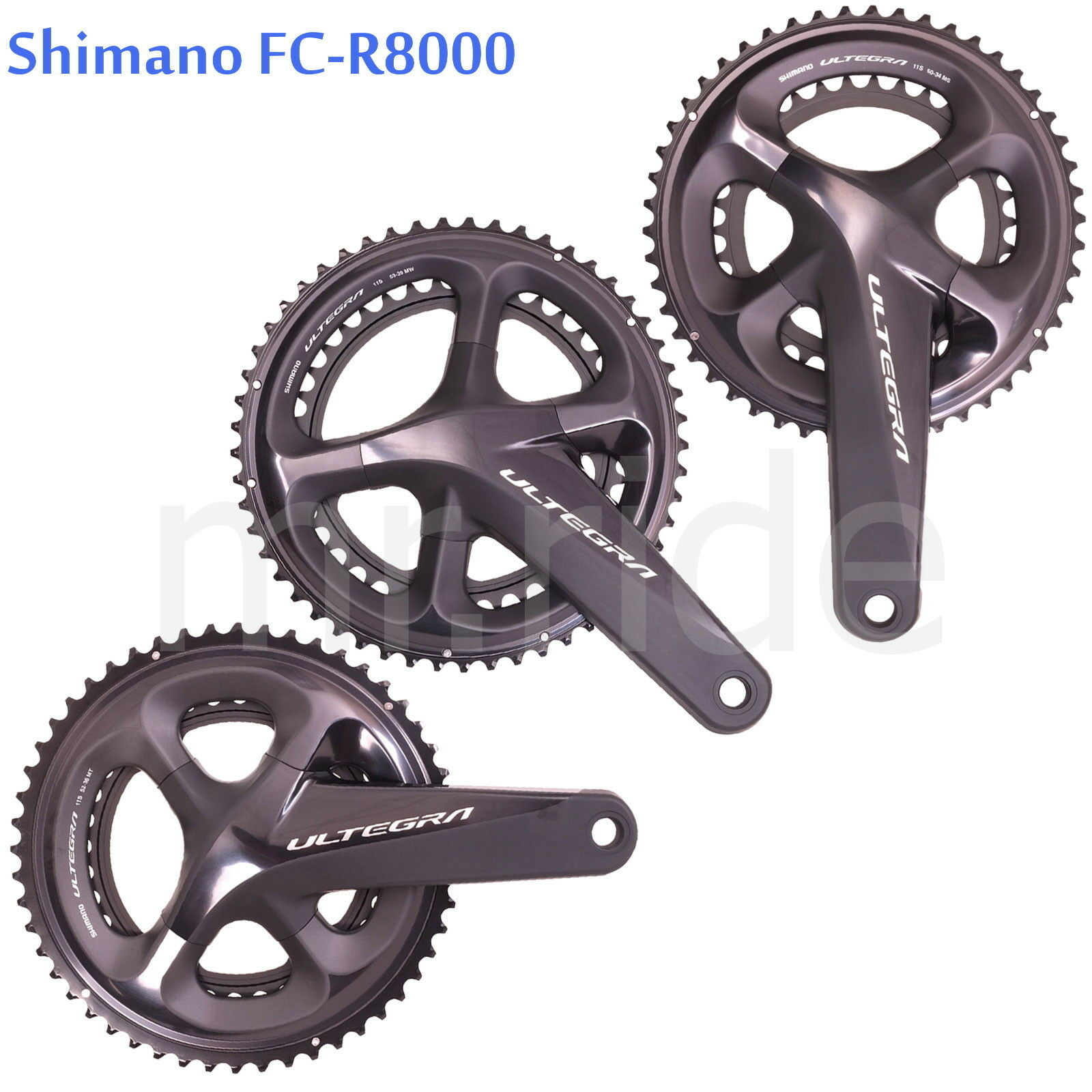 Shiuomoo Ultegra FCR8000 strada bicicletta Guarnitura 2x11S 165170172.5175mm,505253T