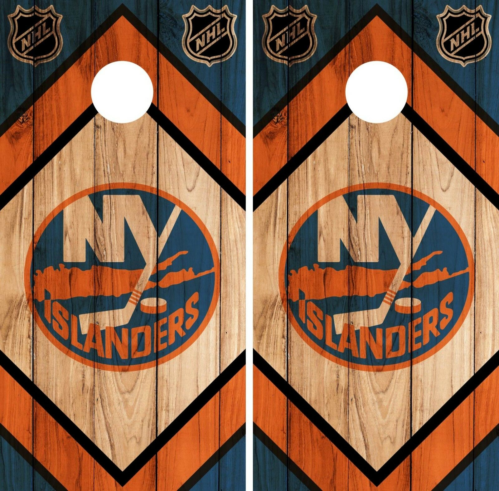 New York Islanders Cornhole Wrap NHL Wood Game Board Skin Set Vinyl Decal CO239