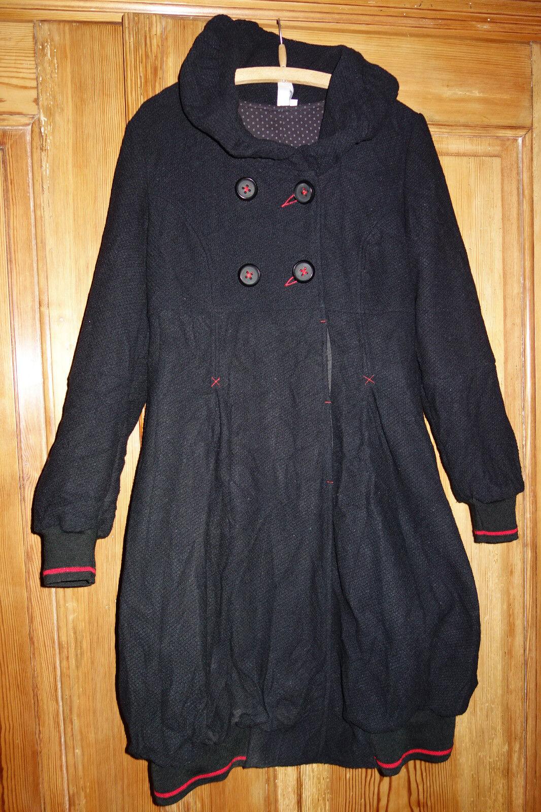 Deca , Paris  Ausgefallener Mantel schwarz Ballonmantel 3 (38 40) Lagenlook