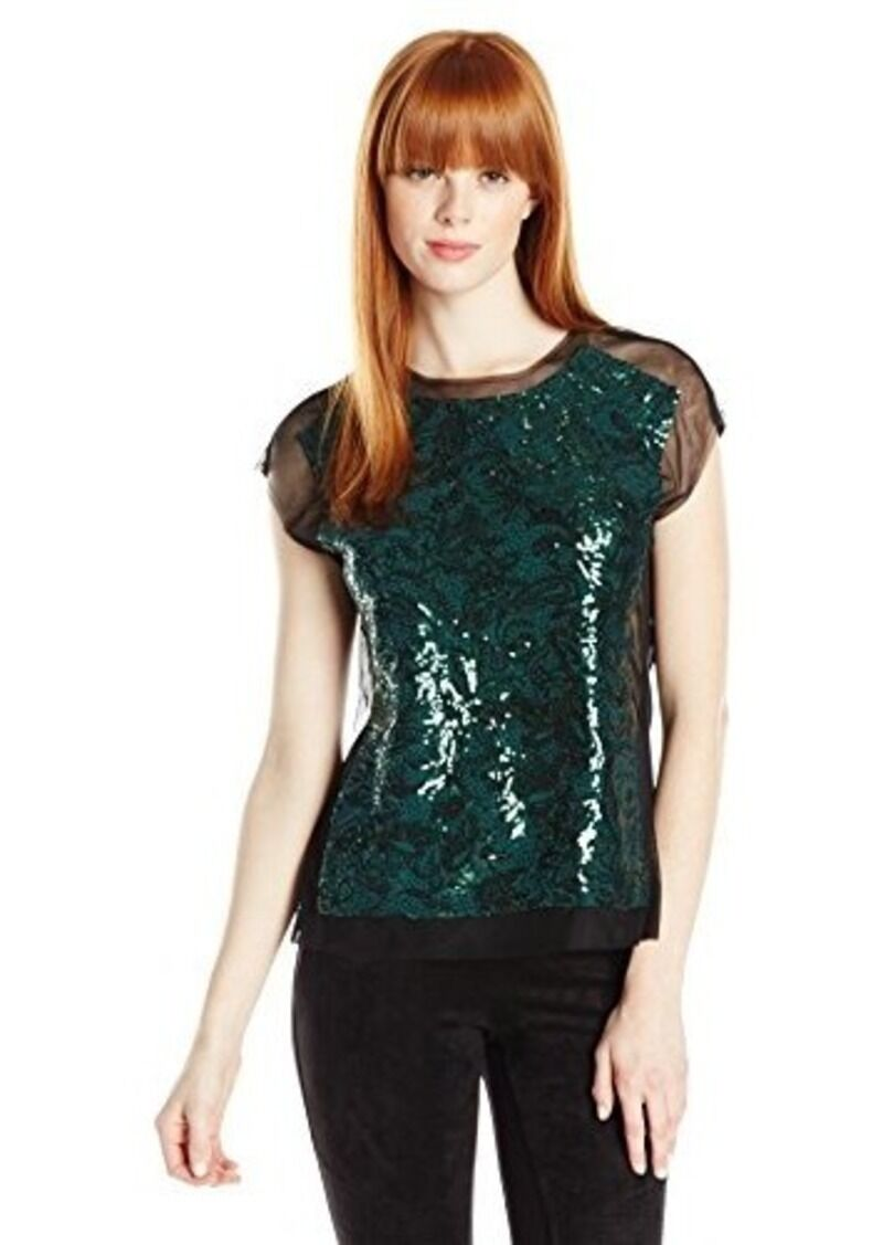 BCBG MAX AZRIA Woherren  OBREE   Sequined Top Sz S -