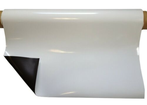 Magnetfolie weiß glänzend 0,8mm x 31cm x 100cm