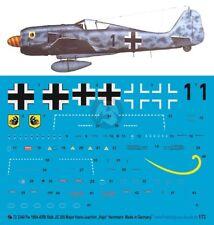 Josef Priller JG 26 1167 1//72 Decals FW 190 A8 Obstl