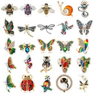 Fashion-Animal-Bird-Owl-Crystal-Enamel-Brooch-Pin-Women-Costume-Wedding-Jewelry