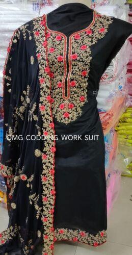 Designer Embroidery Bollywood Salwar Kameez Suit Indian Shalwar Top Inner Fabric