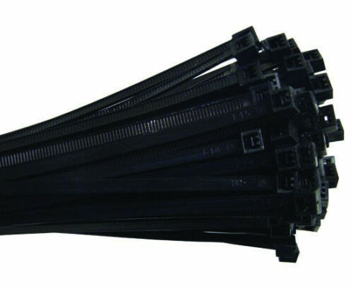 """100x Standard Military Grade Cable Zip Tie UV Rated 14/"""" 50lbs Black CT-3911-14UV"""