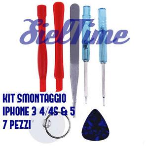 SET 7 PEZZI KIT CACCIAVITI PENTALOBE SMONTAGGIO RIPARAZIONE IPHONE 3GS 4S 5