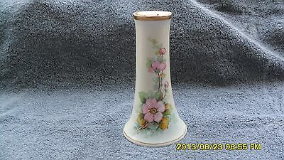 Antique Moritz Zdecauer hand painted porcelain pin holder 6 in. tall 1267