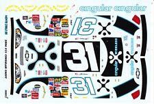 #31 Jeff Burton Cingular 2006 Chevy 1/24th - 1/25th Scale WATERSLIDE DECALS