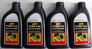 Details about 4 Quarts Toyota / Scion Automatic Transmission Fluid Type-4  ATF - OEM NEW!