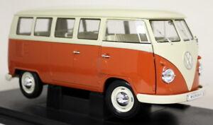 Nex-1-18-Scale-1963-Volkswagen-T1-Bus-Splitscreen-Red-Cream-Diecast-model-Car