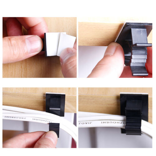 Clamp Fastener Sticky Fixer Holder Cable Clip Wire Management Buckle Line