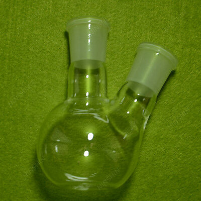 150ML 2-neck Boiling plat bottom Flask,heavy wall,with 24/29 joint,lab Flask