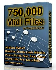 750,000 Midi Pack Collection 2020 Logic, FL Studio, Reason, Ableton Cubase Acid
