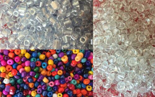 Env. 4 mm - choix de couleurs 50 g Verre Seed Perles Taille 6//0 BD21