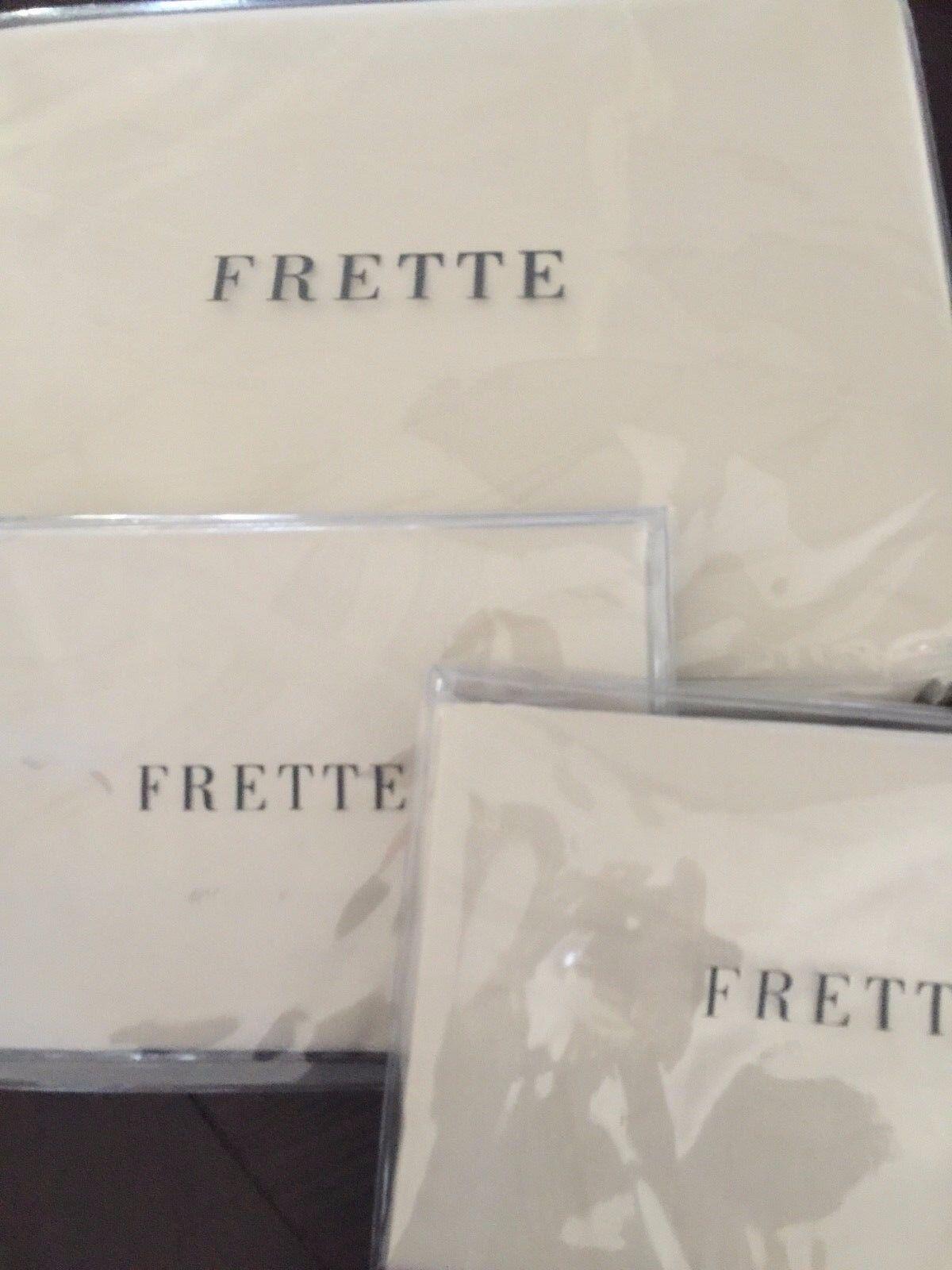 FRETTE King Duvet Cover + 2 Euro Shams Ingrid Champagne Cotton  New