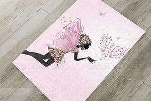 Teppich Kinderzimmer Schmetterlinge, Blumen Engel Flügel Maedchen ...