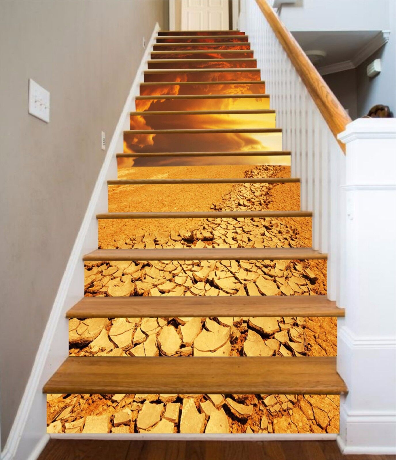 3D Dry Ground 943 Stair Risers Decoration Photo Mural Vinyl Decal Wallpaper AU