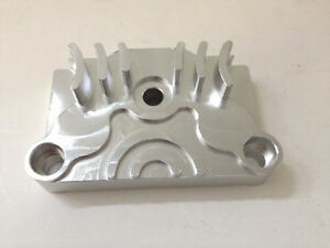 silver cnc engine oil cover  honda crf xr   dus oil cover aa ebay