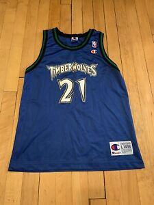 Minnesota-Timberwolves-Vintage-90-s-Kevin-Garnett-Champion-Kids-Jersey-L-14-16