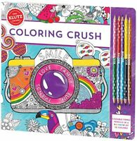Coloring Crush - 60+ Pages Of Colored Pencil Drawing Klutz Art & Craft Kit