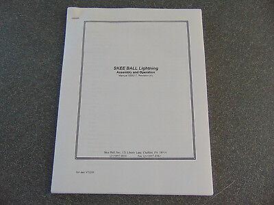 Copy of an Original A Skeeball Lightning Manual Skee Ball Version #990017
