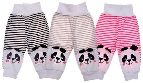 62 68 74 80 86 Baumwolle Kleinkindhose PANDA Pumphose ohne Fuß gestreift Gr
