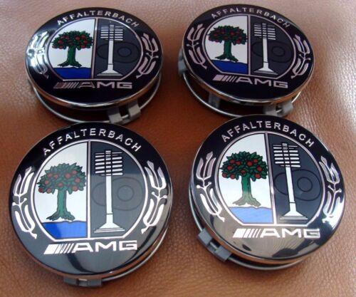 4x Mercedes Benz Alloy Wheel Centre Caps 75mm Badges COLOR TREE AMG Hub Emblem