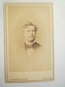 Halle A. P. - K. Hiver Comme étudiant En Ws 1877/78 - Portrait/cdv-afficher Le Titre D'origine SuppléMent éNergie Vitale Et Nourrir Yin