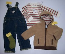 NWT Gymboree My First Pet 18-24 Months Bulldog Overalls Hoodie Bodysuit & Socks