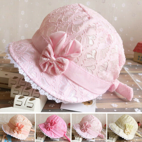 Bucket Hat Bonnet Sun Hat Beach Newborn Toddler Baby Girl Summer Hat Peaked Cap~