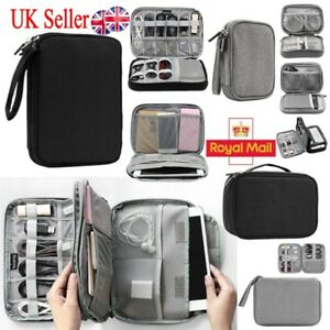 4c658b0063 Image is loading Electronic-Accessories-Cable-USB-Drive-Organizer-Bag- Portable-