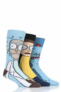 Mens-3-Pair-SockShop-Rick-and-Morty-Cotton-Socks