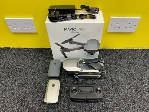 DJI-Mavic-Pro-Platinum-M1X-GL200A-Drone-With-2-Batteries-And-Original-Box-USED