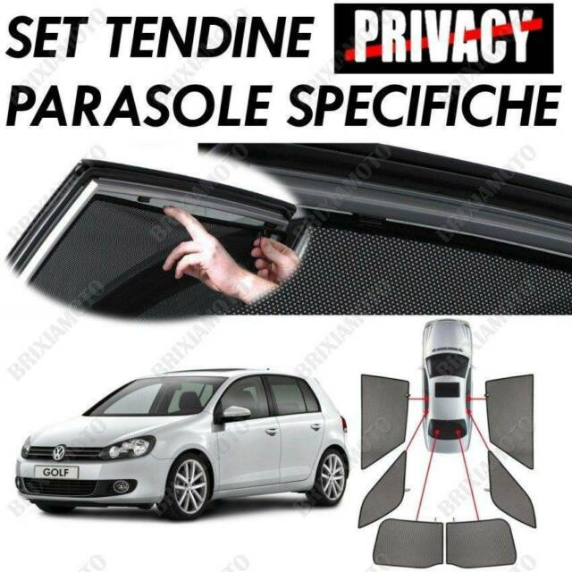 18335 Set Petits Rideaux Privacy Volkswagen Golf VI 5p ( 11/08>10/12 ) 1pz