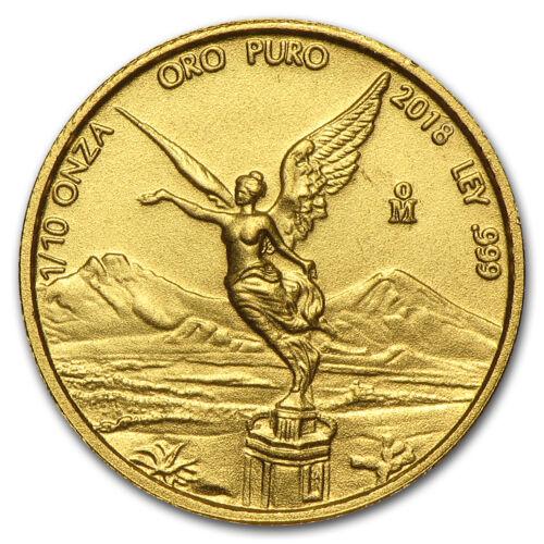 2018 Mexico 1//10 oz Gold Libertad BU SKU#170080
