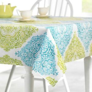 6bfb6b72f117 Fabric Outdoor Tablecloth Zipper Umbrella Hole Roma 70 Rd Blue Green ...