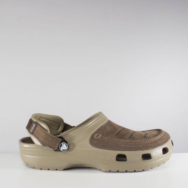 32b478b35215d Mens Crocs Yukon Vista Clog Leather Uppers Adjustable Heel Strap ...