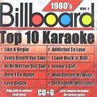 Billboard Top 10 Karaoke 1980's 0610017198128 by Various Artists CD