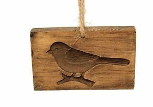 NEW-wood-look-carved-bird-hanging-Christmas-ornament-cookie-butter-mold